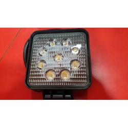 Faro de trabajo LED cuadrado 27W